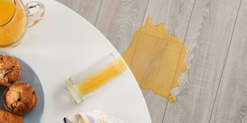Juice spill on Vinyl flooring | Custom Floors