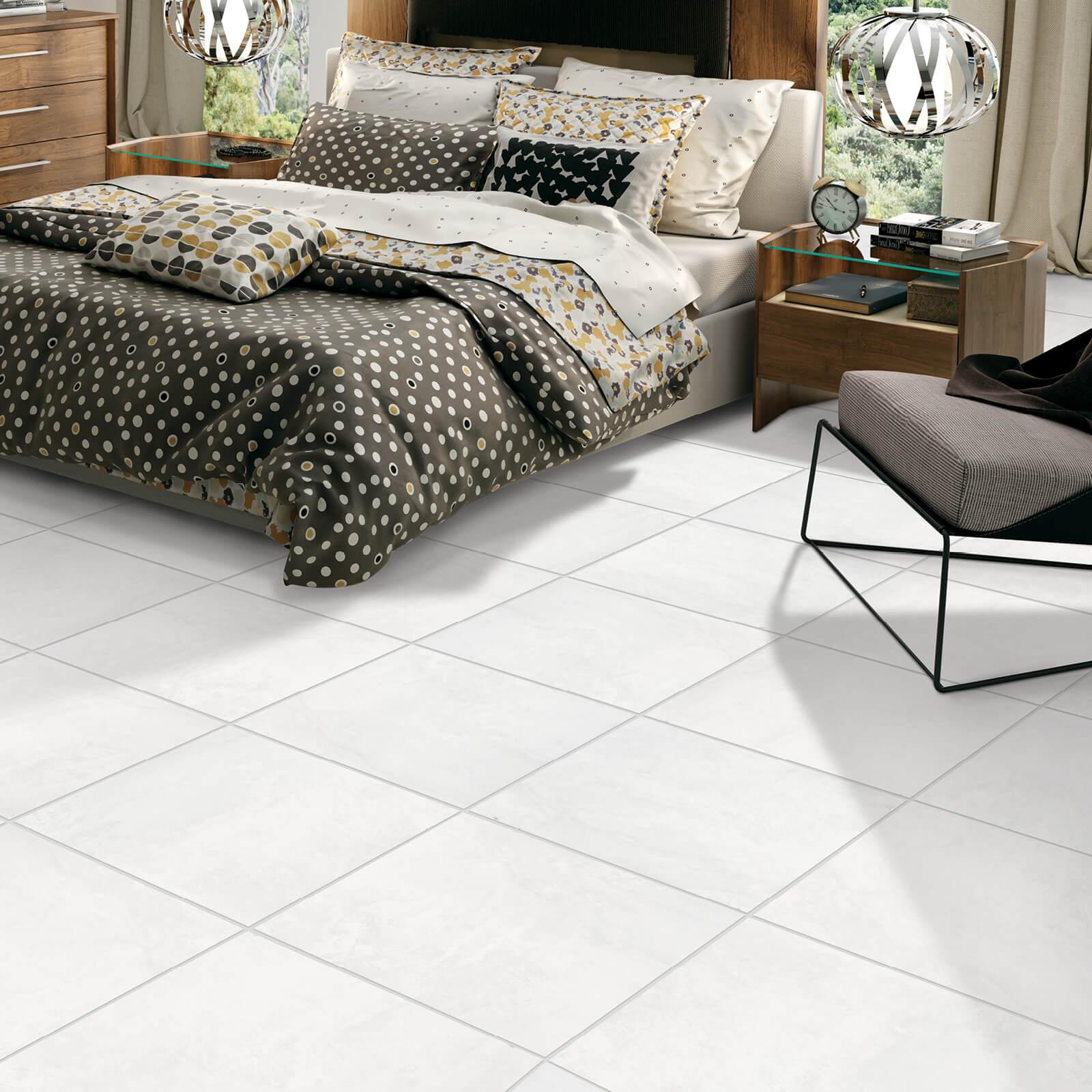 Winter Park white tile in bedroom | Custom Floors