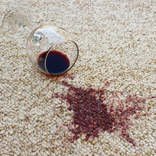 Red wine stain on carpet | Custom Floors
