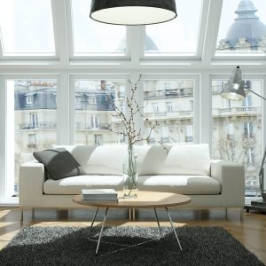 Area rug in apartment   Custom Floors
