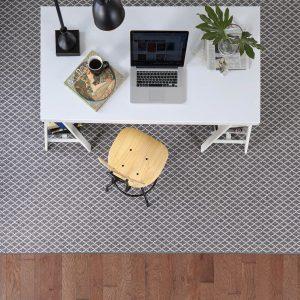 Area rug in home office   Custom Floors