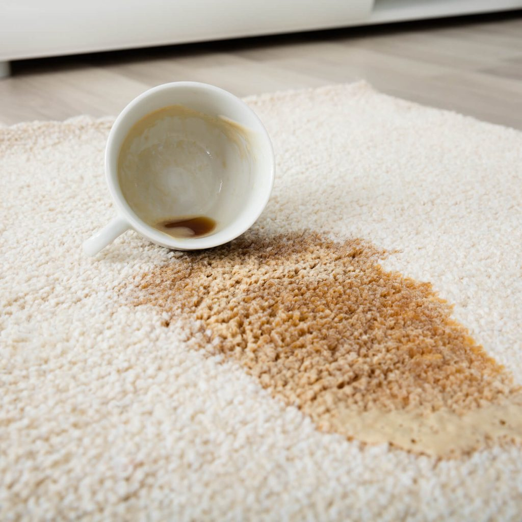 Coffee spill on area rug | Custom Floors
