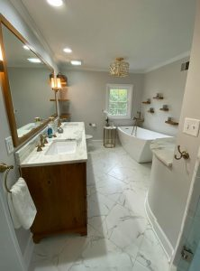 Crawford Bath After Whole Room | Custom Floors