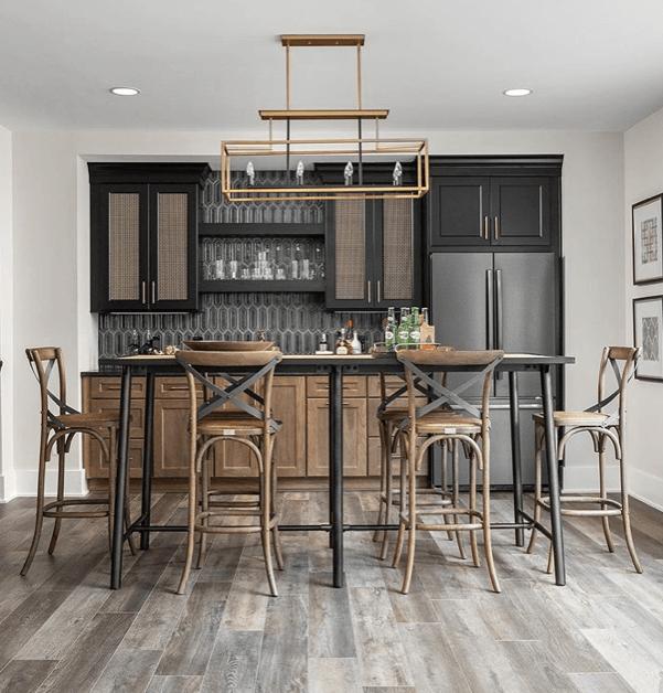 Home a rama Bar backsplash & LVP | Custom Floors