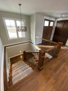 Line House Landing Stairs | Custom Floors
