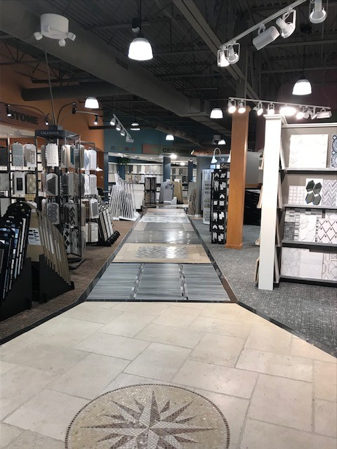 Showroom Floor to Tile | Custom Floors