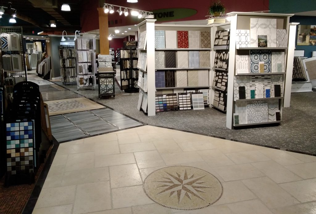Showroom Tile path | Custom Floors