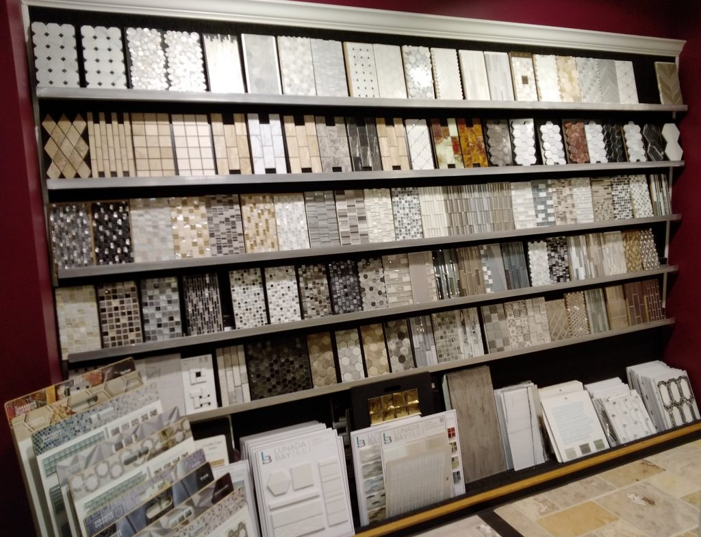 Tile products in showroom | Custom Floors