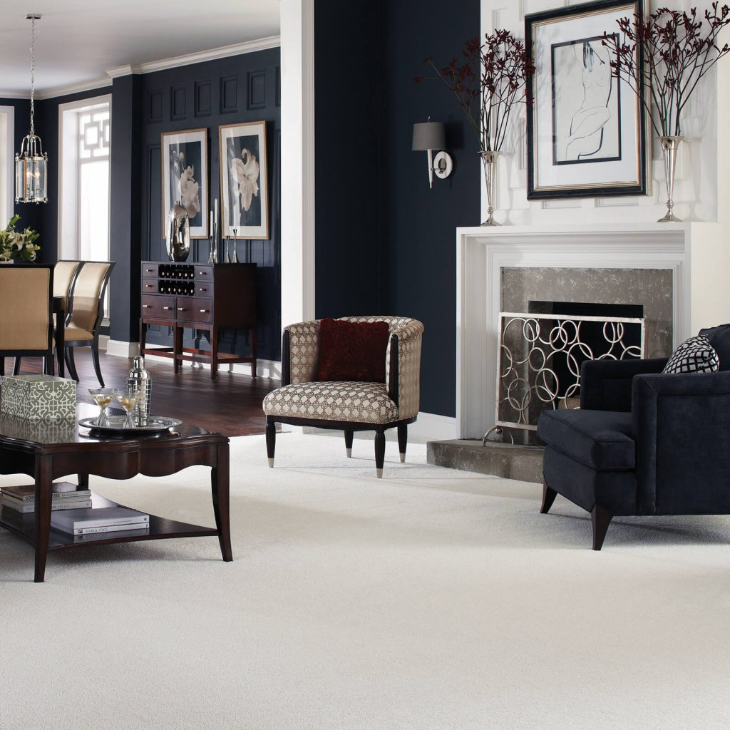 White Carpet in Living room | Custom Floors