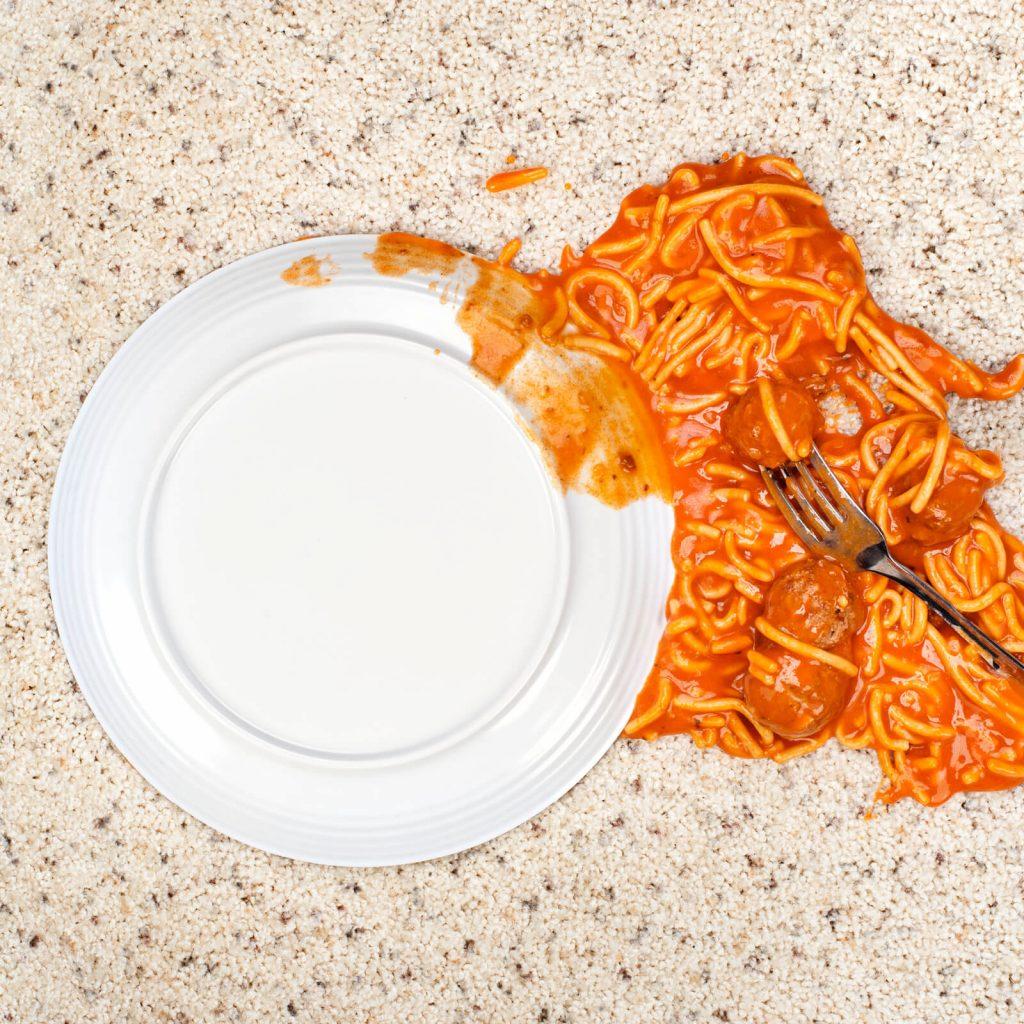 Spilled spaghetti on Carpet | Custom Floors