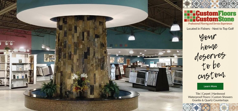 custom floors tile fountain | Custom Floors