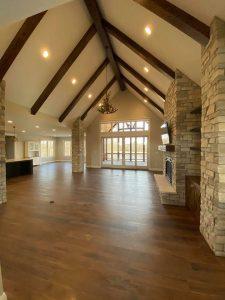 Line House Great Room | Custom Floors