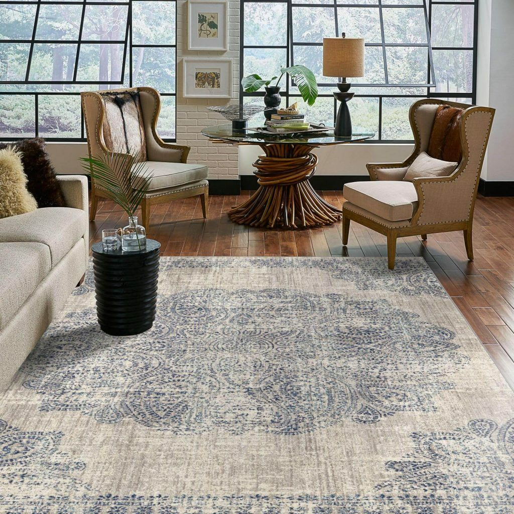 Area Rug in living room | Custom Floors