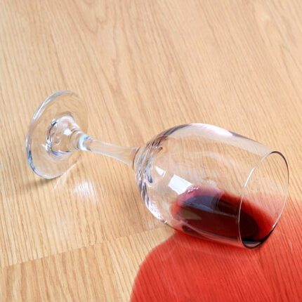 Red wine spill on Laminate floor | Custom Floors
